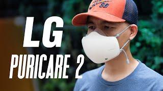Trên tay khẩu trang LG PuriCare Wearable Air Purifier
