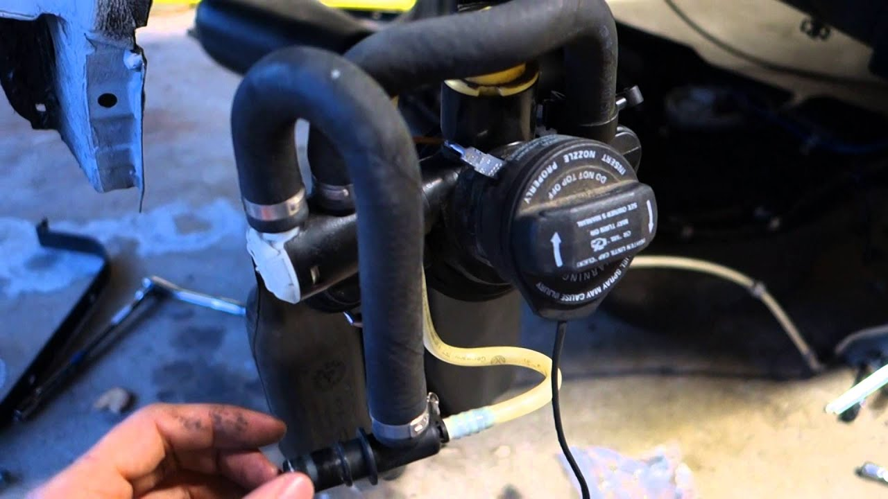 vw mk  fuel tank canister pump  lines youtube