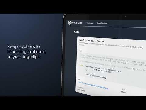 CoderNotes Intro