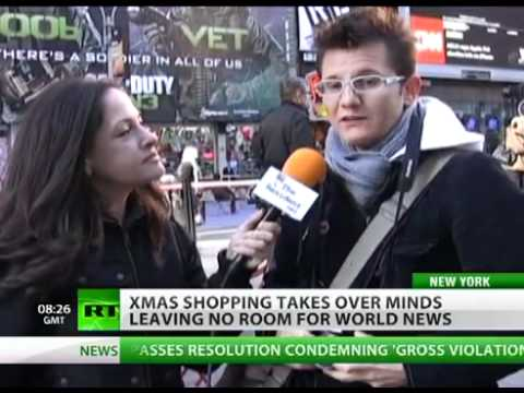 Shopping seizes minds leaving no room for world news