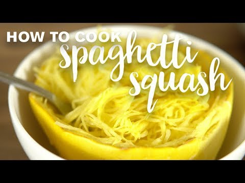 """How to Cook Spaghetti Squash - get the longest """"noodles"""" and best texture!"""