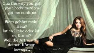 Miley Cyrus- Who owns My heart Lyrics (English & German)