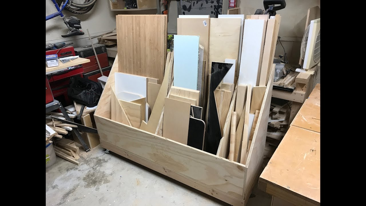 Building A Plywood Storage Cart Youtube