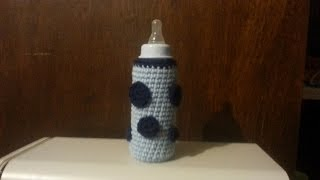 How to Crochet - Baby Bottle Huggie - Bag-O-Day Crochet Tutorial #35
