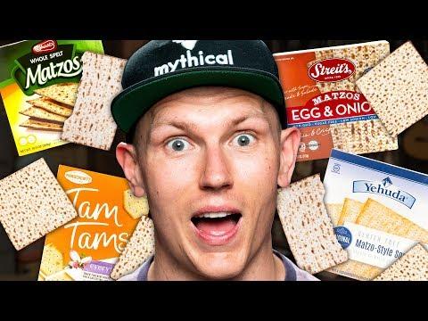 Passover Matzo Taste Test