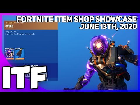 Fortnite Item Shop *NEW* CYCLO SKIN! [June 13th, 2020] (Fortnite Battle Royale)