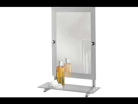 Argos Frosted Edge Rectangular Mirror With Glass Shelf 832 2522