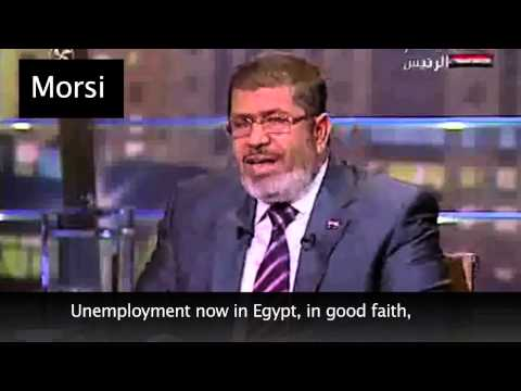 Sisi Vs Morsi on Egypt's unemployment