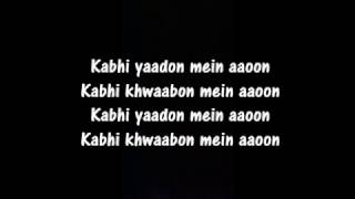 Kabhi Yaadon Mein aaoon lyrics | Arijit Singh & Palak Muchhal | Lyrics On