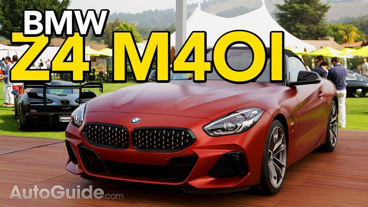 2019 Bmw Z4 M40i Official Debut 2018 Monterey Car Week Youtube