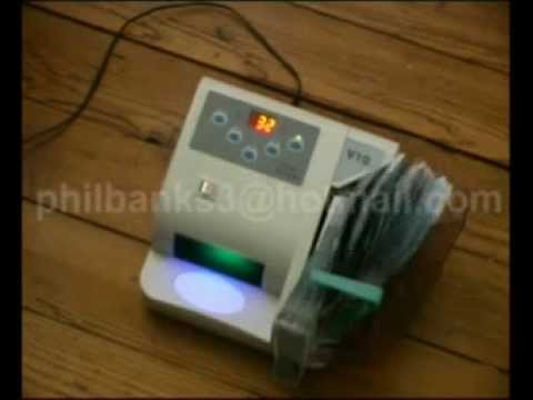 V10 Compact Note Counter - pakistan note counting machine, cash counter, money counter
