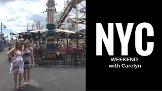 NYC Weekend with Carolyn: Shopping, Times Square, & Coney Island