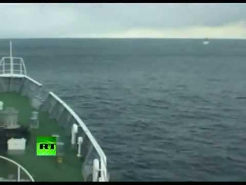 Tsunami Monster Wave on Sea taken by Japanese Coast Guard