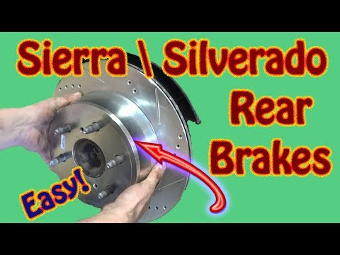 How to Replace Rear Brake Pads and Rotors On a GMC Sierra \ Chevy Silverado Power Stop Installation