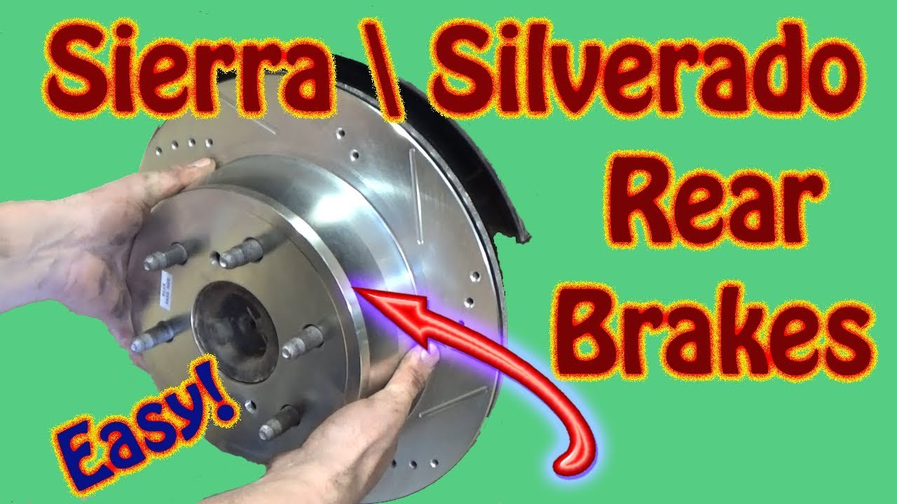 How To Replace Rear Brake Pads And Rotors On A Gmc Sierra Chevy Silverado Power Stop Installation Youtube