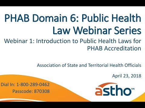 PHAB Domain 6 Webinar Series: Introduction to Public Health Laws for PHAB Accreditation