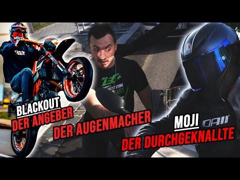 5 ARTEN von MOTORRAD FAHRER |  mit MOJI, BLACKOUT und TAYO!