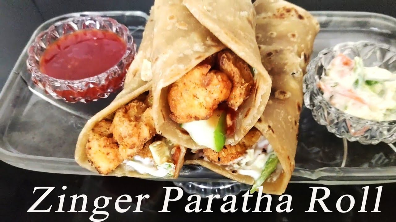 Twister Chicken Paratha Roll Recipe | KFC Homemade Style | Instant & Quick