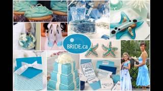 Blue themed wedding decorations ideas