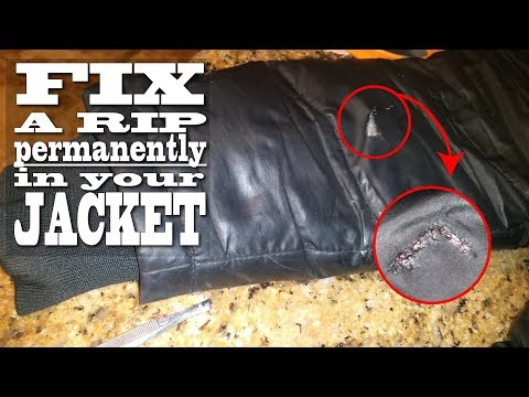 How To Fix A Rip In Your Down Jacket / Simple Down Jacket Rip Repair