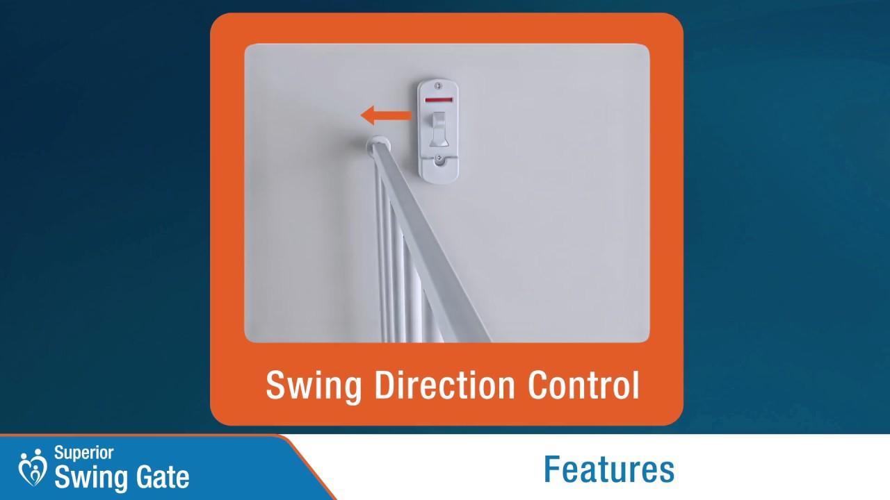 Perma Child Safety Superior Swing Gate Youtube