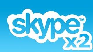 Два скайпа (Skype) запустить на одном компьютере HD 1920x1080