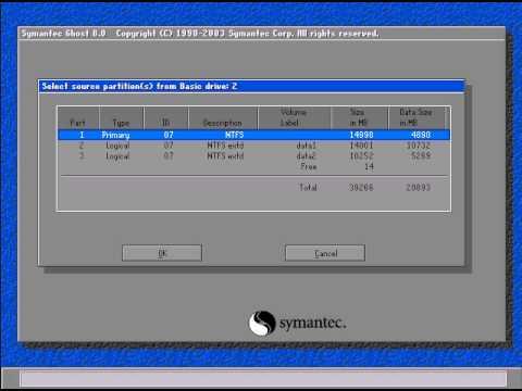 Hướng dẫn tạo file Ghost cho Windows