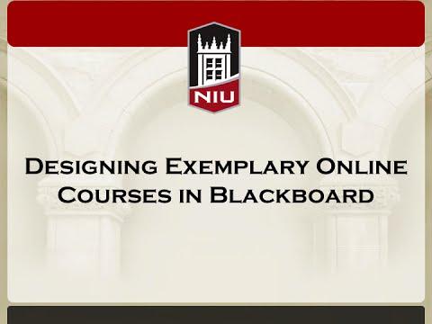 Designing Exemplary Online Course in Blackboard