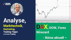 Daytrading & Markttechnik live | DAX | Dow | Wirecard | Forex | Analyse & CFD Trading 23.06.20