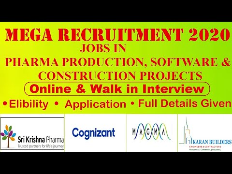 Jobs for Pharma and Engineering Candidates | Construction & IT Project Experienced Candidates Eligib