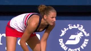 Kerber d Pliskova - Dubai Tennis 2018 - QF WTA Highlights