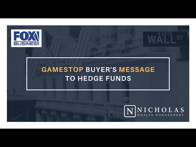 GameStop Buyer's Message to Hedge Funds