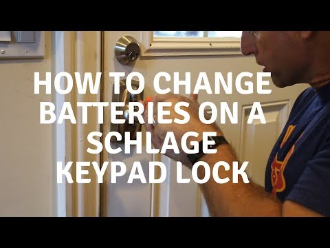 How to Change the Batteries in Schlage Keypad Lock