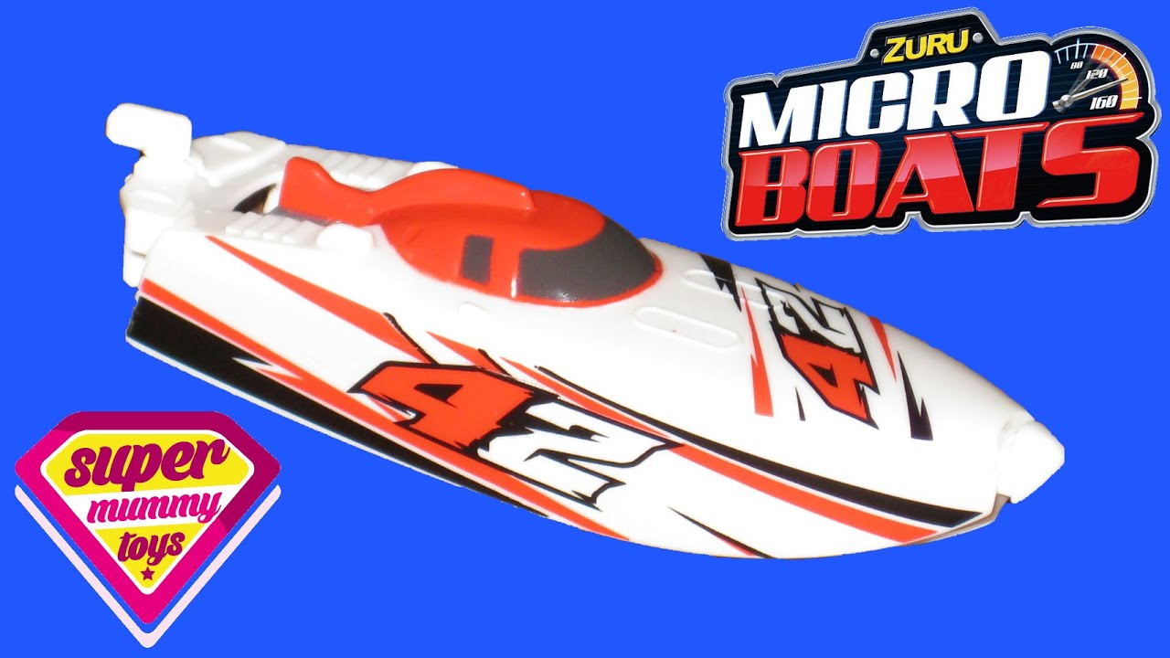 Zuru Micro Boats Unboxing Bath Toy Review - YouTube