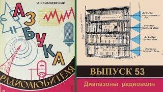 Диапазоны радиоволн. Азбука радиолюбителя 53.