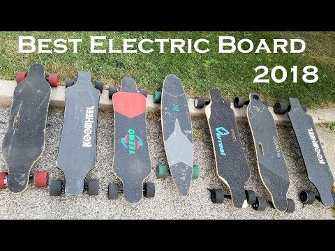 Electric Skateboard Buyers Guide 2018. Comparing all my Electric skateboards.