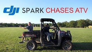 DJI Spark Chases ATV
