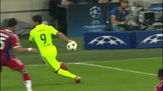 Luis suárez fooling flick. amazing!barcelona vs. bayern munich, may 13th 2015barcelona heads to the final(6th june 2015) in berlin of uefa champions leag...