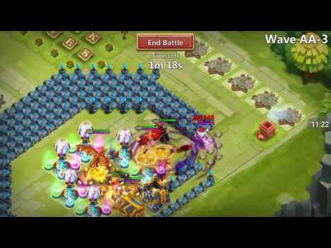 Castle Clash - Beating HBM AA, AB, And AC, NO PUMPKIN DUKE On Dane's Account!