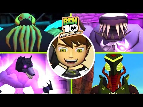 Ben 10: Protector of Earth All Bosses (Wii, PS2, PSP)