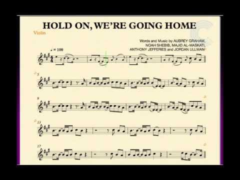 Violin - Hold On, We\'re Going Home - Drake - Sheet Music, Chords ...