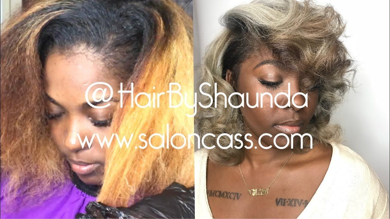 Natural Hair Ash Blonde Color And Style Hairbyshaunda Youtube