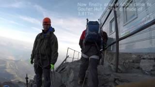 Climbing Mont Blanc 2015 via Gouter huât