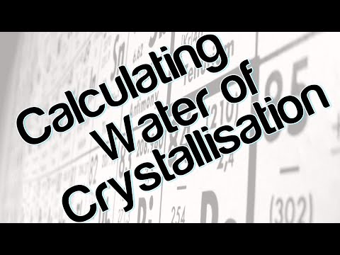 Calculating Water Of Crystallisation