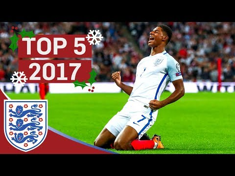 England's Top 5 Goals of 2017!   Great Goals from Rashford, Vardy and Kane