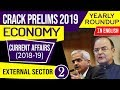 UPSC CSE Prelims 2019 Indian Economy Current Affairs 2018-19 yearly roundup, Set 5 in English
