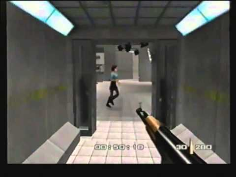 Goldeneye 007 - awful terrible gameplay from VHS tape from around 1998