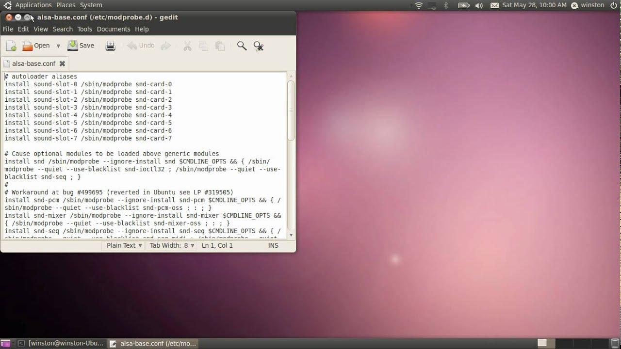 Fix In-Built Mic Problem in Ubuntu [10 04+]