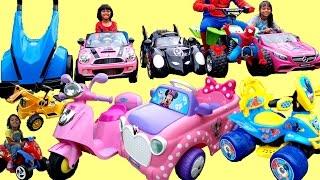 huge surprise unboxing of 12 ride on power wheels   pink mercedes mini batmobile paw patrol mega