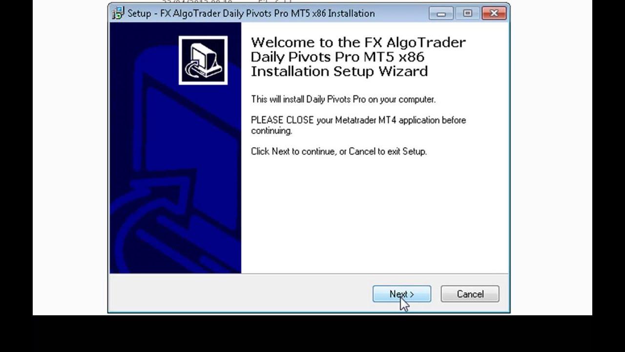 Custom indicator installation guide for MetaTrader 5 - Windows 7 - 32 Bit  Operating System